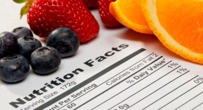 جداول ارزش تغذیه در فست فود