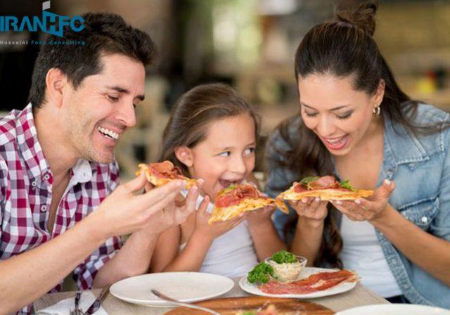 منوی غذای کودک در رستوران
