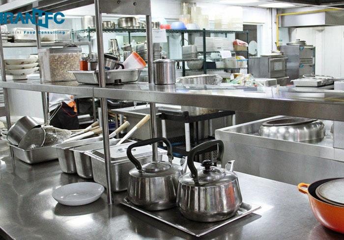چیدمان آشپزخانه صنعتی