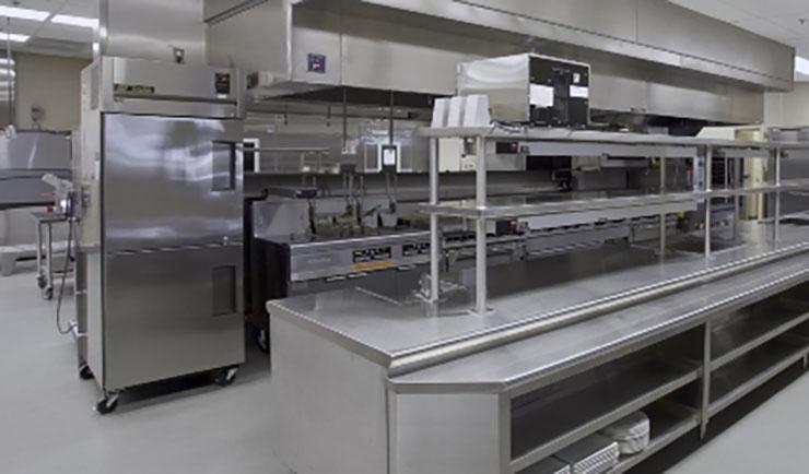نقشه چیدمان تجهیزات آشپزخانه