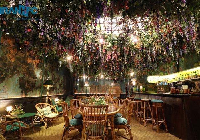 نقش گل و گیاه در دکوراسیون رستوران
