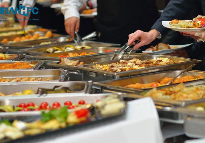 روش بوفه در فست فودها و رستورانها