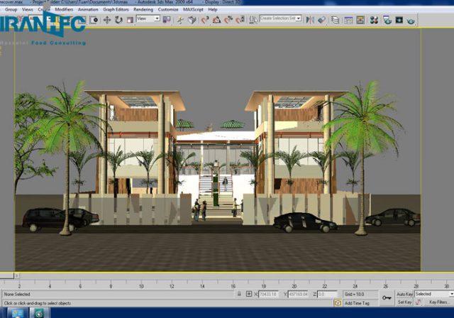 طراحی سه بعدی داخلی فست فود و کافی شاپ